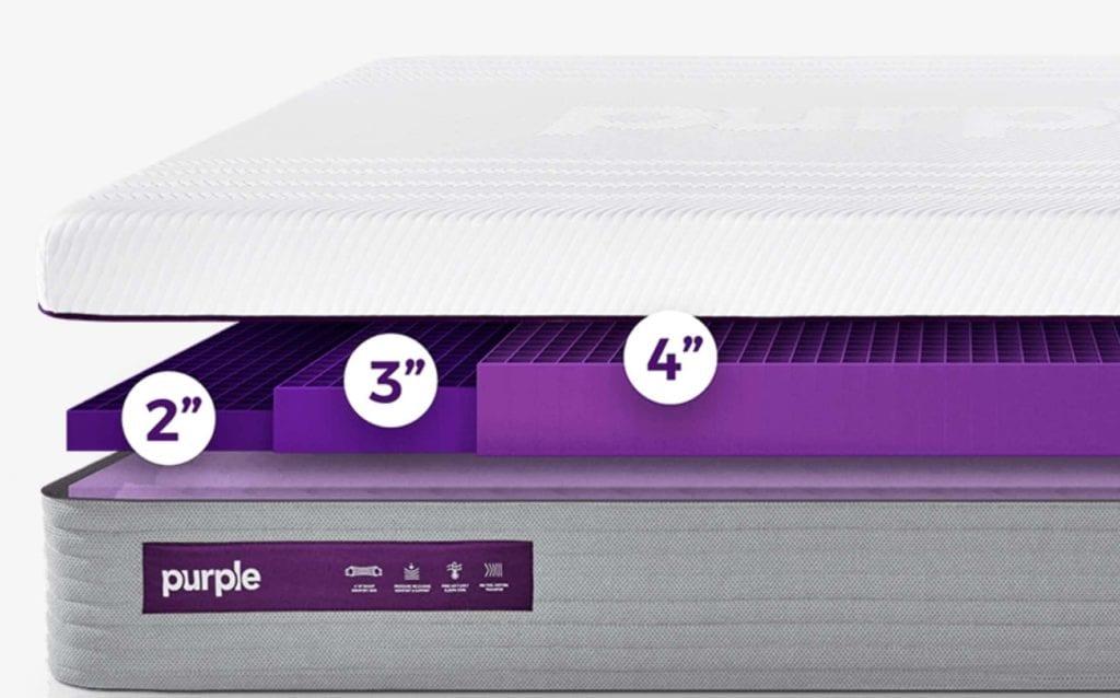 New Purple Mattress 2-4 inch layer choice