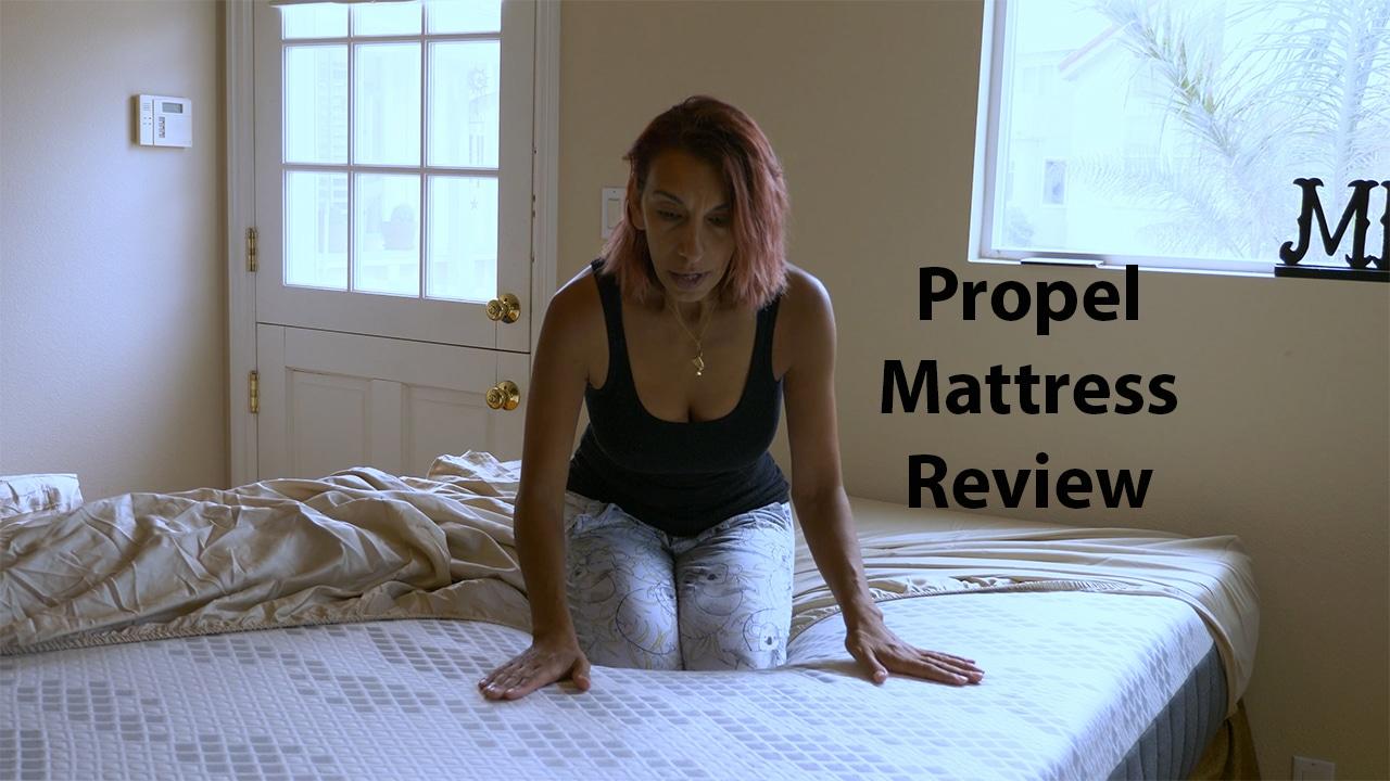 Rana Landreth testing the propel mattress
