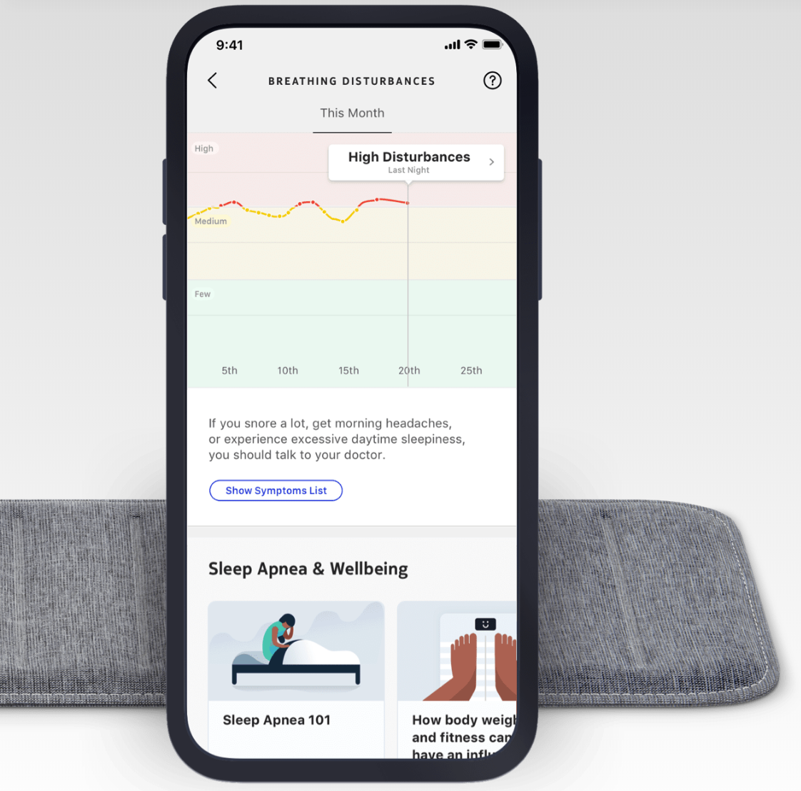 Aura Sleep Sleep Tracking Mat