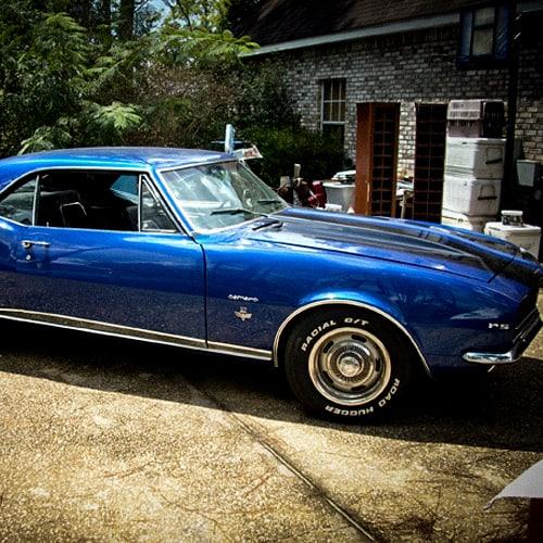 blue automotive paint