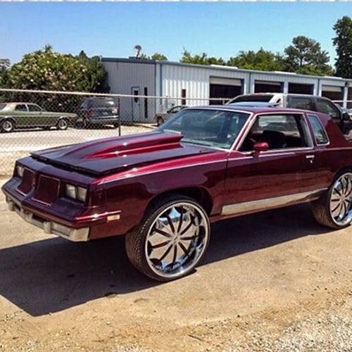 red automotive paint