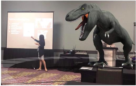 Rachelle Dene Poth presenting Augmented Reality