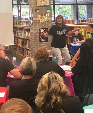 Barbara Gruener Presenting to Teachers