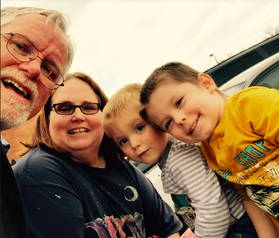 Leigh and Kathy Zeitz with grandsons