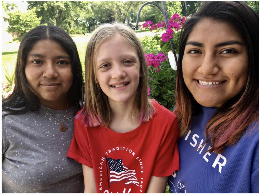 Steve Sostak's daughters in 2018: Jessica, Lucy, and Fatima