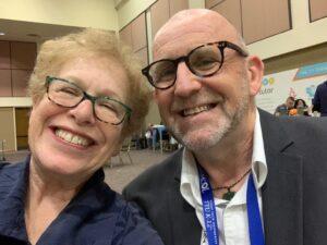 Selfie of Derek Wenmoth and Barbara Bray