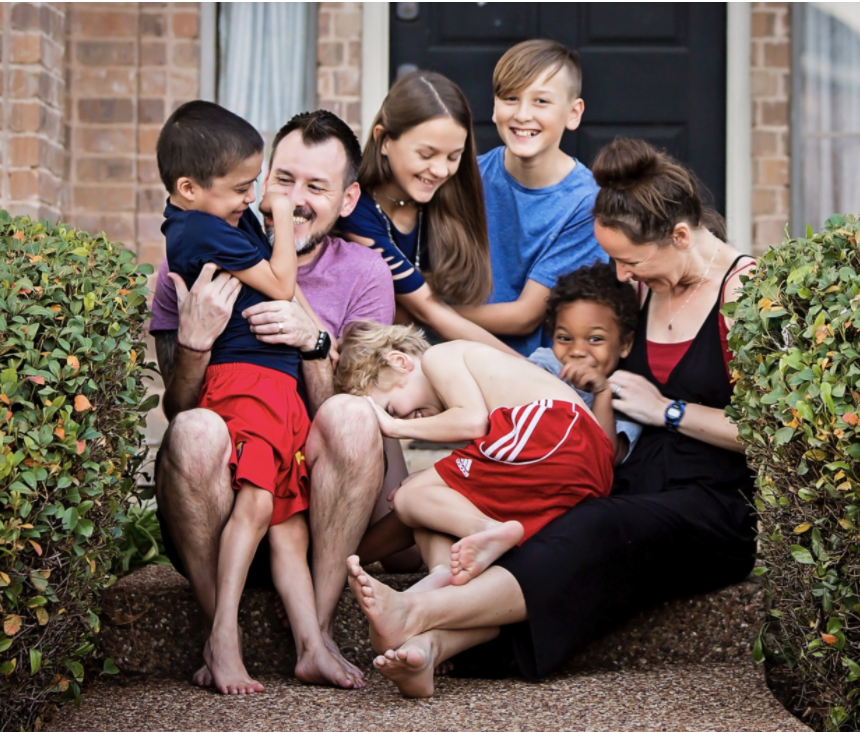 Joshua Stamper and family