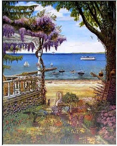 Charles Danielson, Wisteria View - artprint