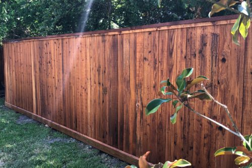 Cedar Fence Stained by Cypress Outdoor Builders