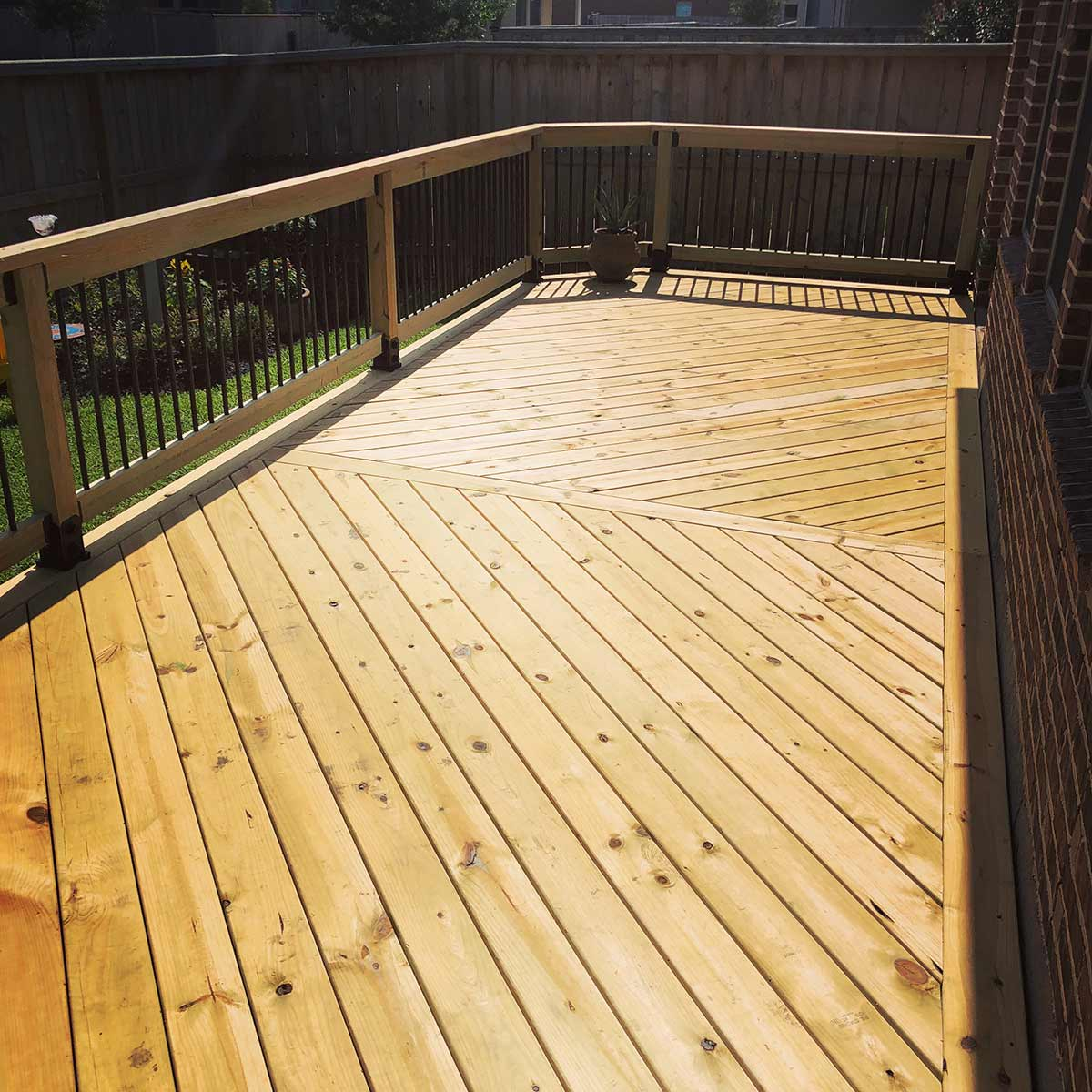 Herringbone Deck