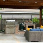 patio with Kitchen Heights