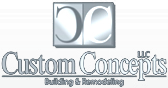 Custom Concepts | Building & Remodeling Logo