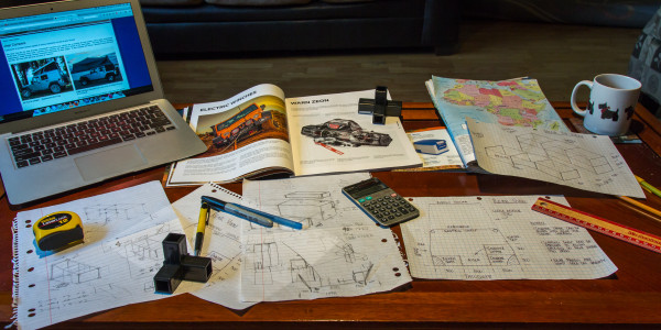 Planning the route, the Jeep and logistics