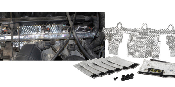 The DEI 4.0L fuel rail & injector cover kit to help reduce heat soak