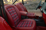 Sweet plaid Jeep Shortcut interior