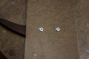 Rivets seen from the back - as thin as possible