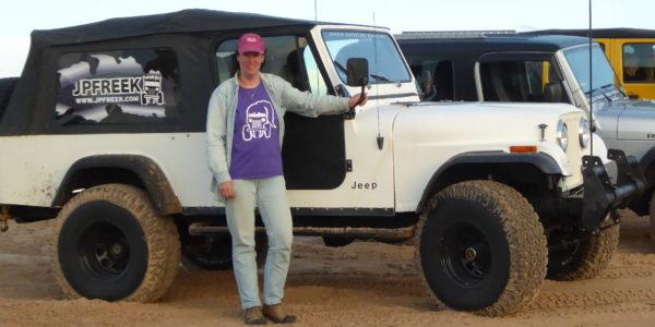 Team JPFreek driver Julie Covert and her Scrambler