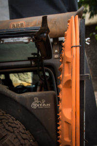 The lift glass can be left open while the tailgate is closed without hitting the Maxtrax