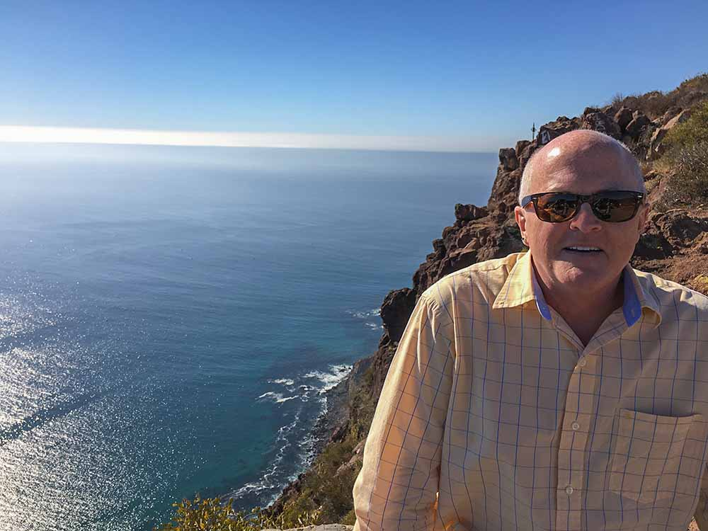 Patrick at his favorite place - Baja, California.