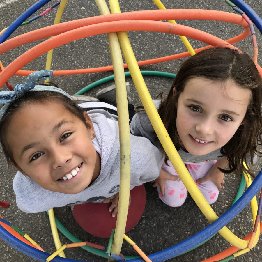 Students in playground