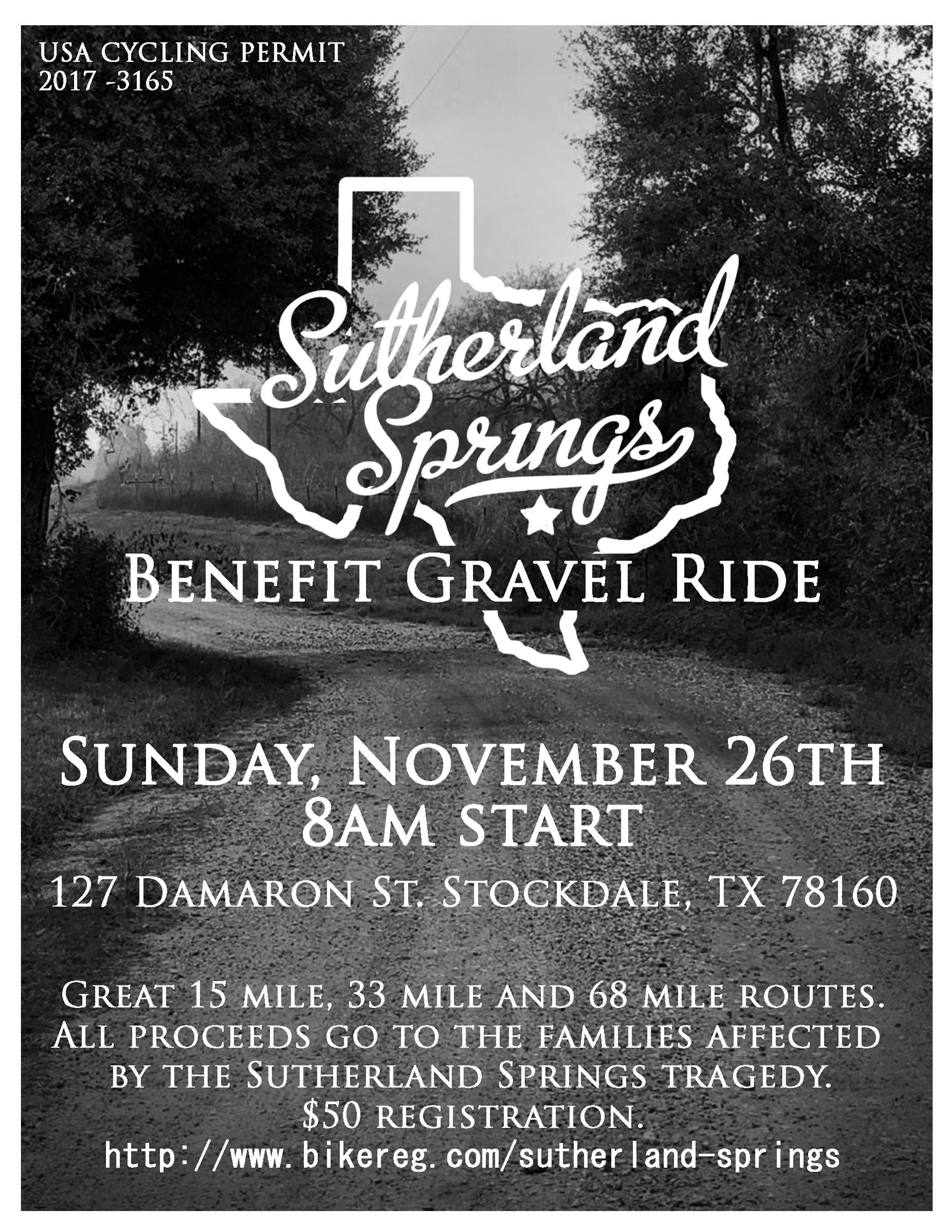 Sutherland Springs Benefit Gravel Ride full