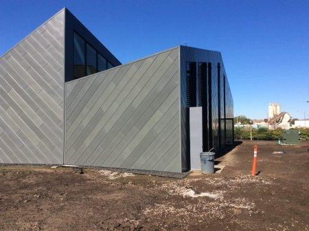 RHEINZINK Graphite-Grey Flat Lock Facade Tiles