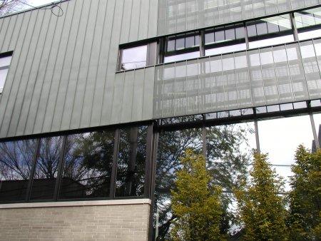 RHEINZINK Graphite-Grey Standing Seam Wall Panels
