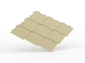 Shingle Style Metal Roofing - Diamond Flat Lock