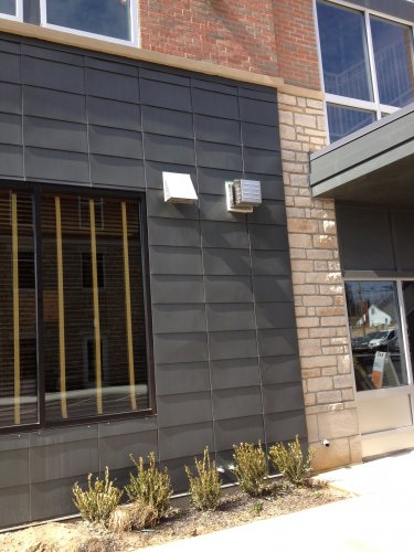 RHEINZINK Graphite-Grey Flat Lock Facade Wall Tiles
