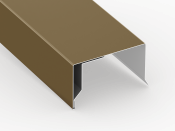 low slope roof coping cap