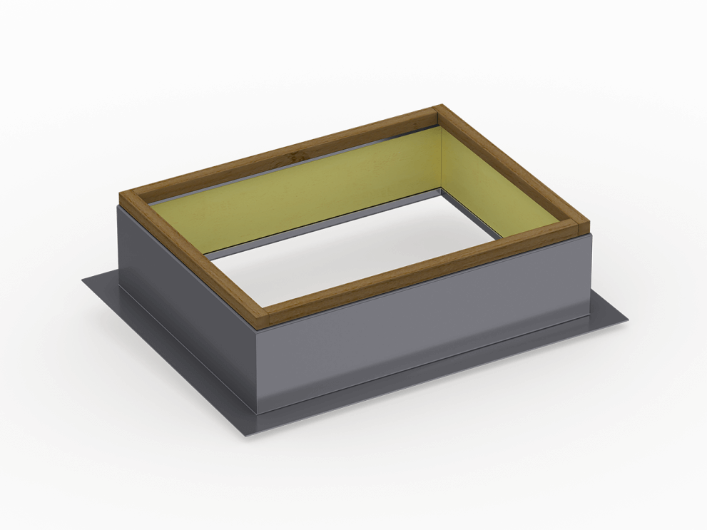 low slope roof curb