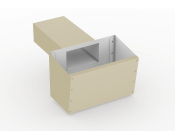 low slope roof scupper box