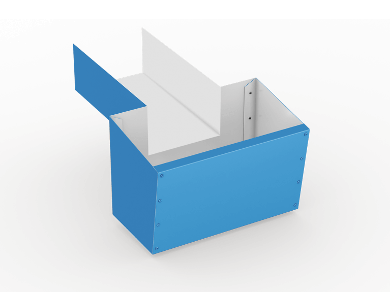 low slope roof scupper boxes