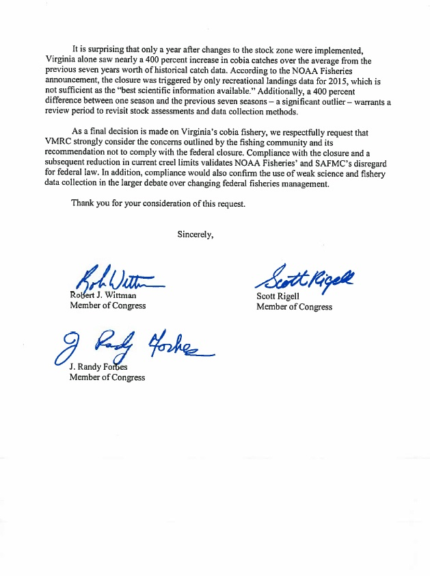 Cobia Congress Letter 2 19 May 16