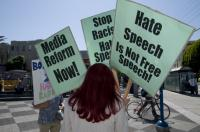Pictures from  Stop Media Hate Speech Picket