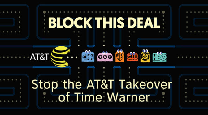 Dozen Media Change Groups Protest AT&T/Time-Warner Merger