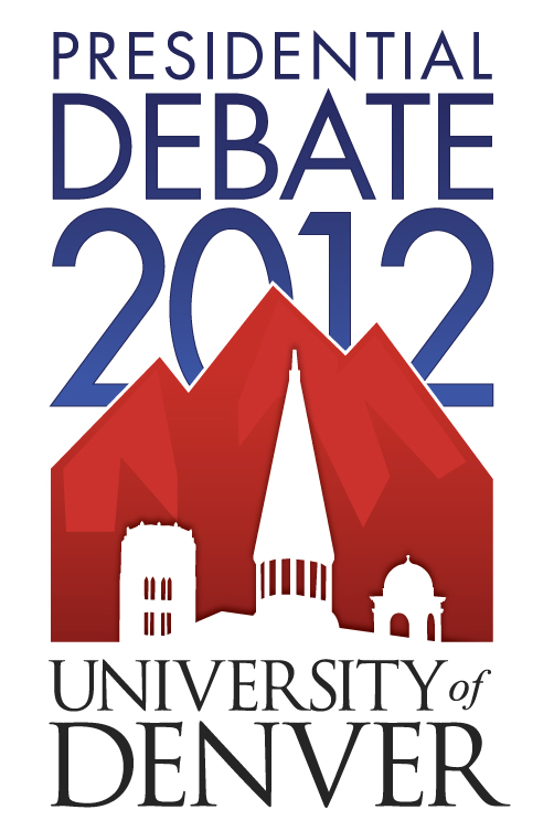 Poster for the US presidential debates at the University of Denver, Colorado