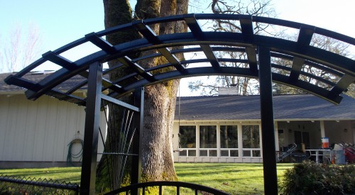 Custom Arbor and Fence