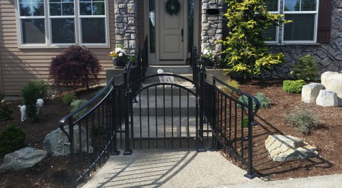 Custom Iron Residential Gate