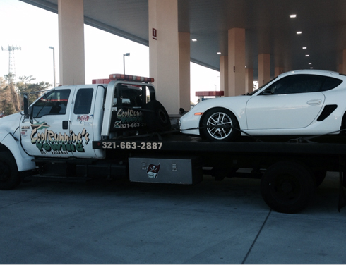 Our towing service in action in Orlando, FL