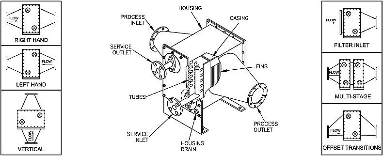 Tank vent vapor condenser drawing