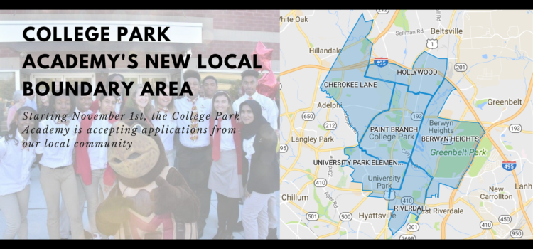 College Park Academy's local boundary area