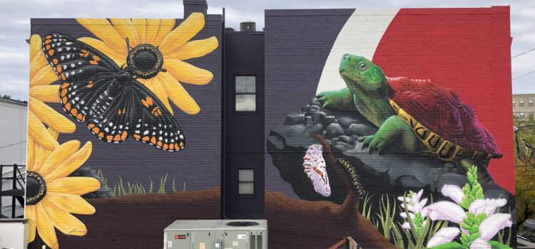 "All about the Downtown College Park Mural, ""Pyschophily – Pollination by Butterfly"""