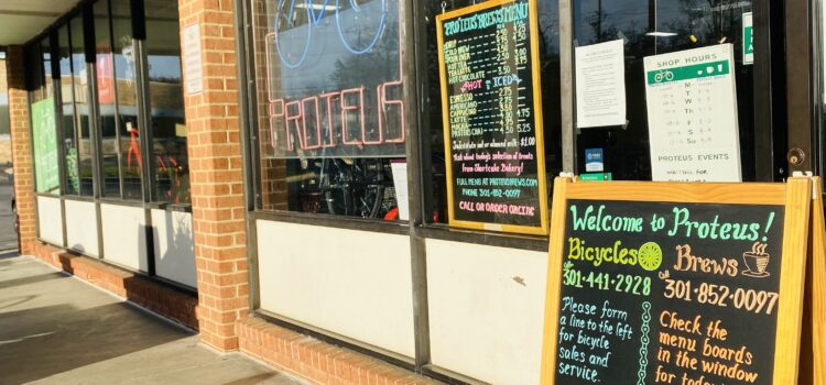 Proteus Bicycles in College Park: introducing Proteus Brews!