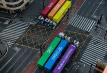 Ação da cervejaria Ambev na Avenida Paulista, em São Paulo, em apoio a comunidade LGBTQIA+. (Foto: Ambev/Divulgação)