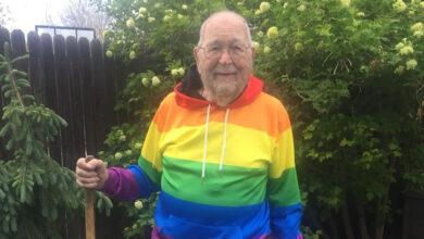Senhor de 90 anos assumi ser gay. (Foto: Reprodução/Facebook)