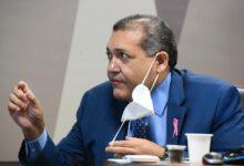 Kassio Nunes Marques durante sabatina no Senado. (Foto: Marcos Oliveira/Agência Senado)