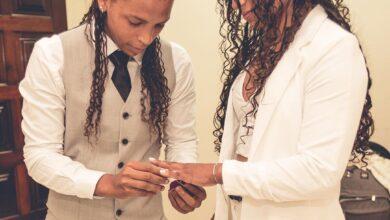 Rafaela Silva e Eleudis Valentim se casam. (Foto: Reprodução/Instagram)
