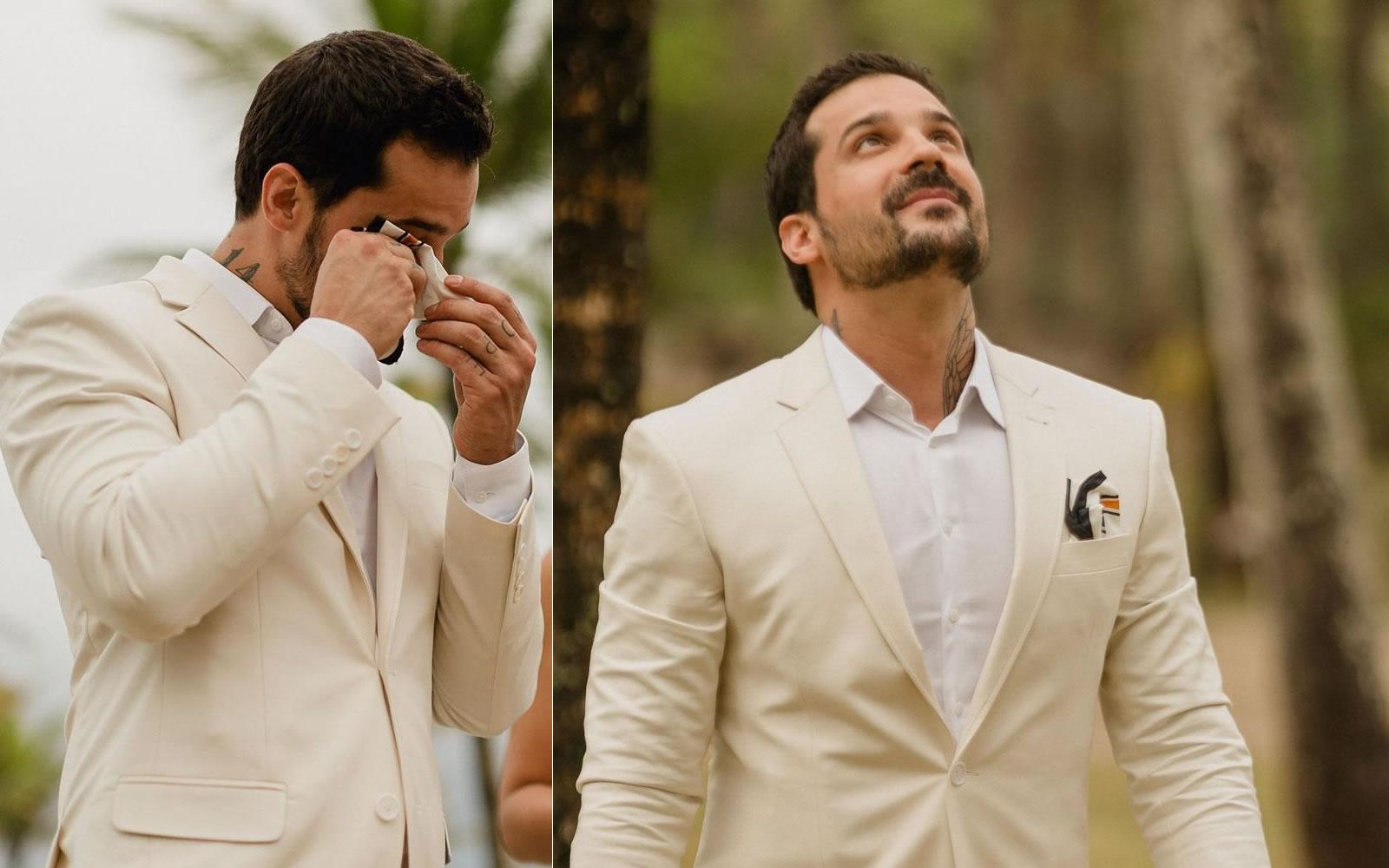 Diogo Rabelo decidiu se casar sozinho em uma cerimônia em Itacaré. (Foto:  Reprodução/Instagram)