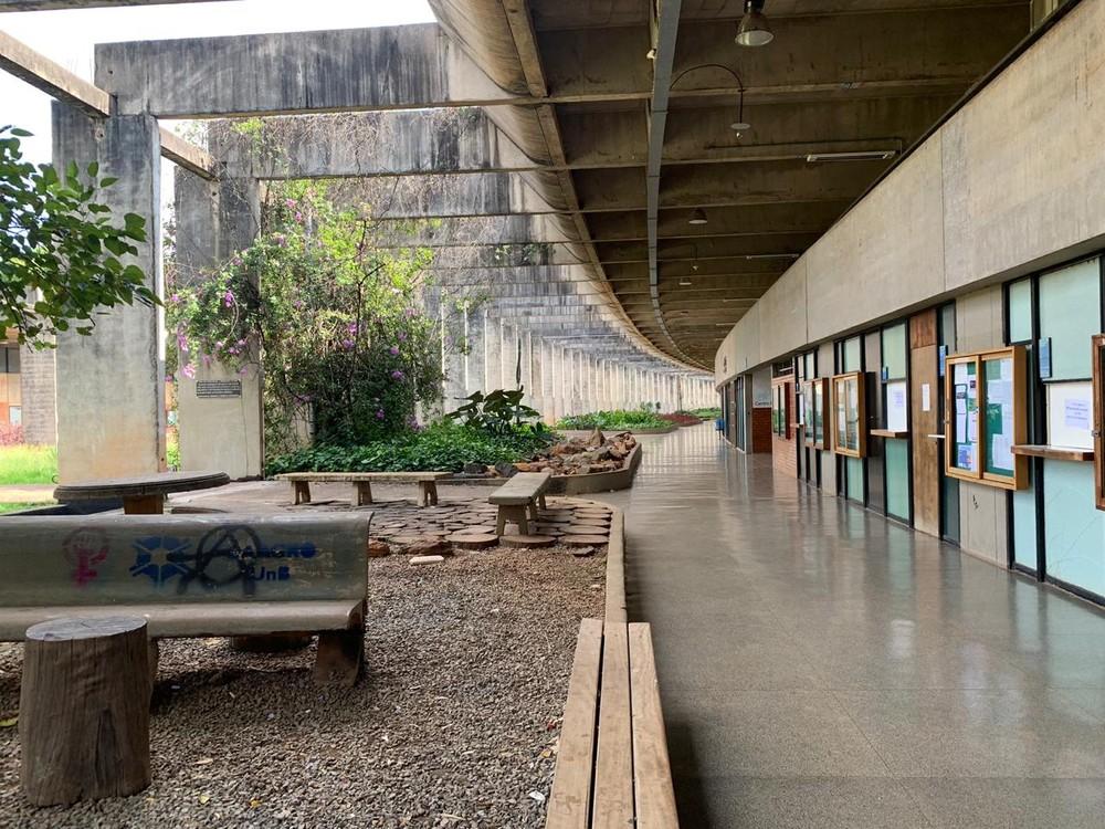 O campus Darcy Ribeiro da Universidade de Brasília (UnB), em imagem de arquivo. (Foto: Geraldo Bechker/Reprodução/TV Globo)